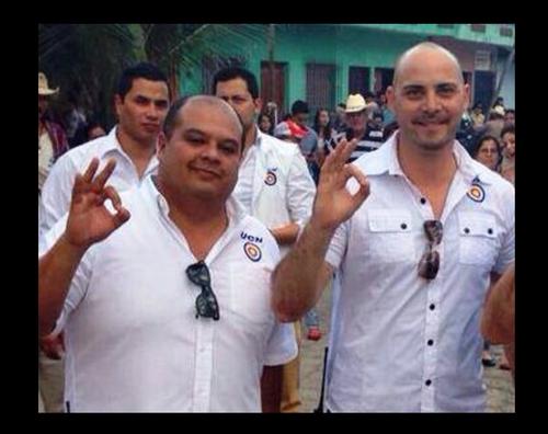 En la fotografía los dos políticos guatemaltecos asesinados. A la derecha, Claudio Sisniega que fue candidato a diputado. (Foto: Facebook/UCN)