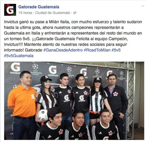 Si ganan el torneo, vivirán la final de la Champions el 28 de mayo a las 13 horas de Guatemala. (Foto: Tomado de Facebook).