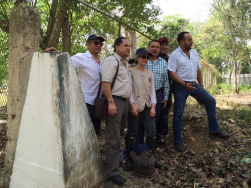 Delegados de la OEA y del Gobierno guatemalteco visitaron la zona de adyacencia este sábado. (Foto: Ministerio de Relaciones Exteriores)