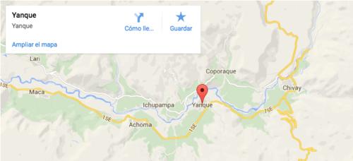 Pa Yachay está ubicado en el distrito de Yanque, en el departamento de Arequipa.