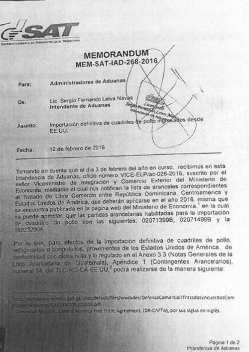 El Ministerio de Economía envió la lista de aranceles a administradores de Aduanas. (Foto: Archivo/Soy502)