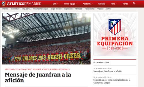 Así publicó la carta el club en su página oficial. (Foto: Captura de pantalla)