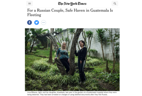 Artículo publicado por The New York Times.