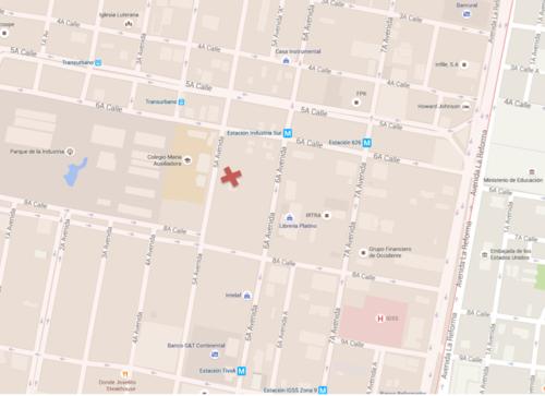 El edificio Valser está ubicado en la 6a avenida 6-94, zona 9.