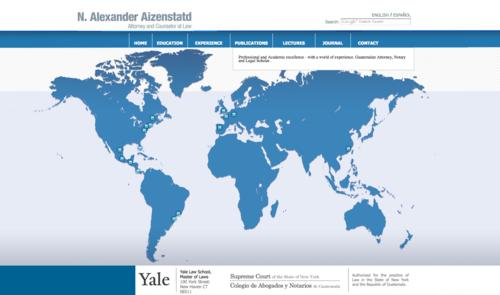 Sitio web de Alexander Aizenstatd.