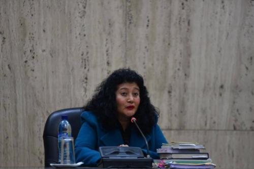 La jueza Jazmín Barrios, quien conoció el caso Sepur Zarco y el de genocidio en su primer debate, preside el Tribunal que tendrá a su cargo el juicio de Creompaz. (Foto: Archivo/Soy502)