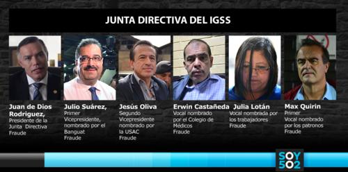 La Junta Directiva del IGSS, incluyendo su expresidente Juan de Dios Rodríguez, son procesados por los caso de fraude.