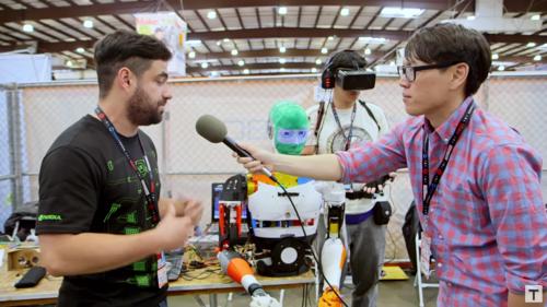 El Robot de Telepresencia tuvo un gran impacto en la última participación del equipo de ingenieros guatemaltecos en el Maker Faire 2016.