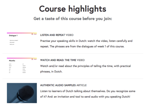 En la página tienes la opción de volver a escuchar videos y diálogos.