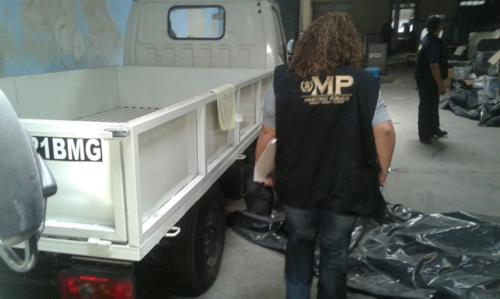 Los camiones estarán a cargo de la Senabed mientras se lleva a cabo un proceso para extinción de dominio. (Foto: MP)