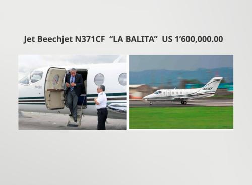 El expresidente Otto Pérez Molina hacía uso habitual de su avión privado. (Foto: Ministerio Público)