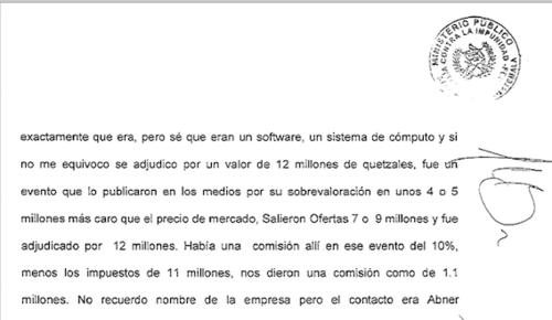 Esta es parte de la declaración de Monzón.