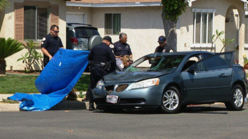 A pesar que la mujer intentó huir a su casa fue atrapada por la policía. (Foto: CNN)