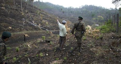 Sólo este año se han presentado 192 incendios forestales en esa zona de Guatemala. (Foto: BBC)