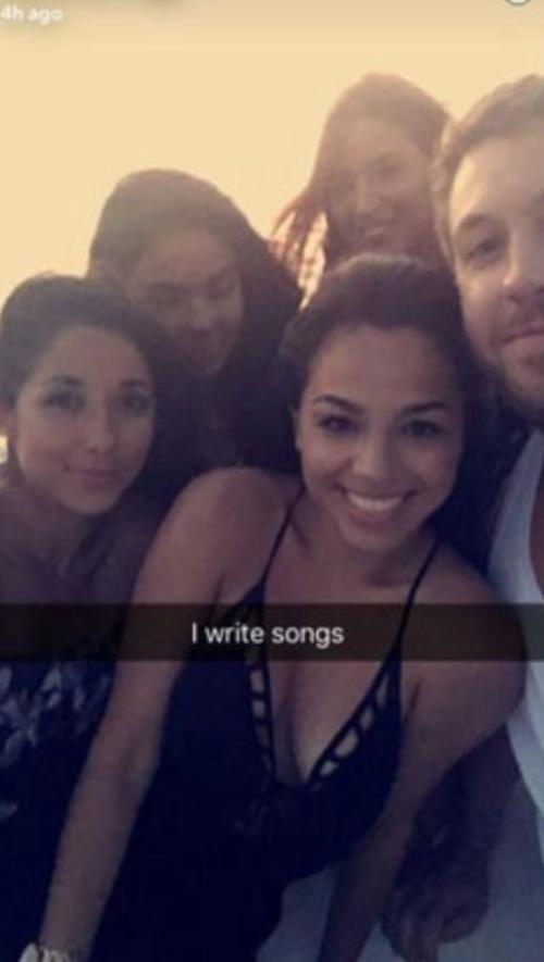 Esta es la foto que Calvin Harris publicó en Snapchat.