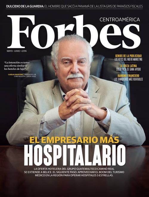 Carlos Enrique Monteros, hoy capturado, fue la portada de la revista Forbes Centroamérica de mayo de este año. (Foto: Facebook/Forbes)