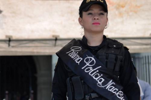 La agente de la SGIC Carolina Alcántara es la reina de la PNC de 2016. (Foto: Wilder López/Soy502)
