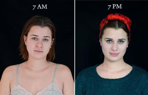 En algunas de las mujeres que participaron en el ejercicio se puede observar el cambio que hace el maquillaje. (Foto: Cultura Inquieta)