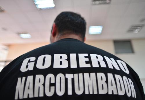 Durante una de las audiencias por el caso de falsificación, Lima vistió con una playera en la que se calificó como un preso político. (Foto: Archivo/Soy502)