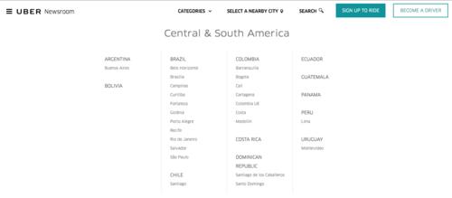 En su página de noticias, ya está creada la sección para Guatemala. (Foto: Uber.com)