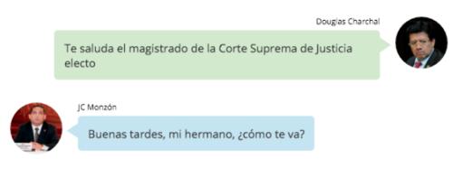Charchal mantenía contacto con Juan Carlos Monzón, según registros de mensajes telefónicos mostrados por la Fiscalía.