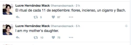 Lucrecia Hernández Mack también hizo algunas publicaciones en redes sociales relacionadas al aniversario luctuoso de su madre.