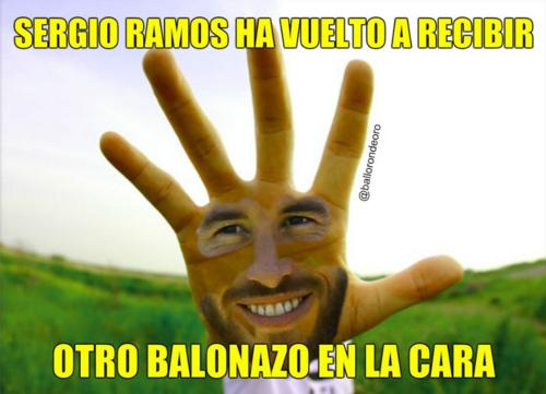 Como era de esperarse, las redes no perdonaron la acción de Ramos (Imagen: Twitter)