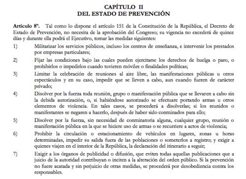 El artículo 8 de la Ley de Orden Público establece que no es necesaria la ratificación del Congreso. (Foto: José Miguel Castañeda/Soy502)