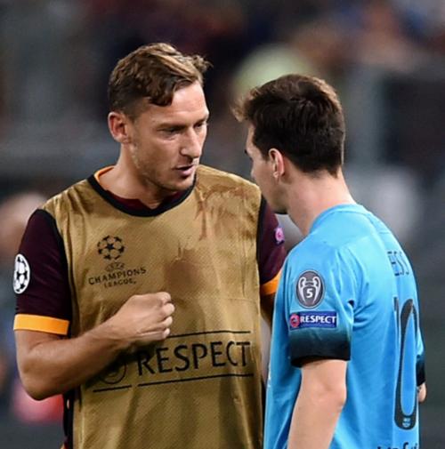 Leo y Francesco, el año pasado durante la UCL. (Foto: ESPN.com)