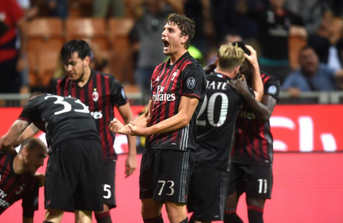 Manuel Locatelli no podía creer su gol (Foto: Twitter)