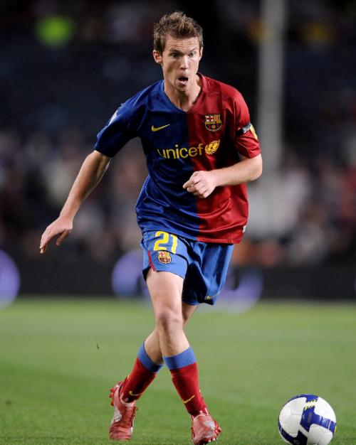 Hleb, durante uno de sus pocos partidos con el Barça (Foto: Goal.com)