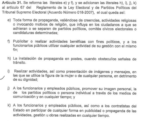 Las reformas contemplan ampliaciones de las prohibiciones. (Foto: Captura de Pantalla)