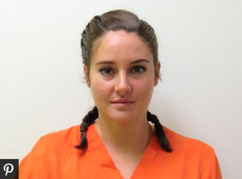 Esta es la imagen  de la actriz de 24 años después de su captura.