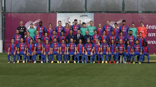La foto oficial de los dos primeros equipos del Barça. (Foto: FCB.com)