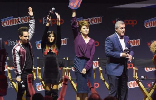 La protagonista de Xena: la princesa guerrera participó en la New York Comic Con 2016 para promocionar la serie en la que participa actualmente. (Foto: AFP)