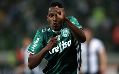 Yerry Mina con el uniforme del Palmeiras. (Foto: Colombia.com)