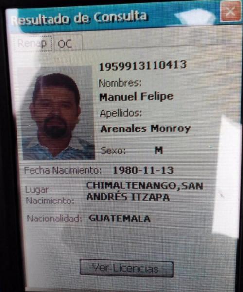Desplegado del Sistema de Identificación Móvil utilizado por la PNC. (Foto: PNC)