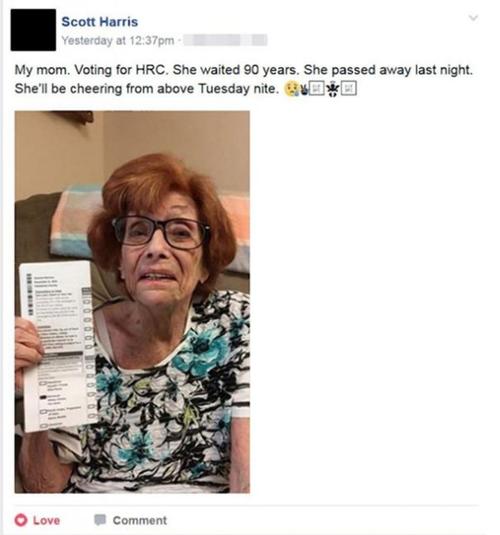 Esta es la publicación que hizo el hijo de la mujer fallecida en su cuenta de Facebook. (Foto: huffingtonpost.com)