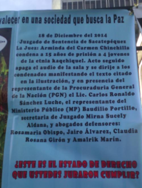 Parte de la manta que instaló Juan Francisco Morales. (Foto: Twitter/@Il_sQualo)