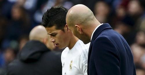 La relación entre Zidane y James no es la mejor. (Foto: As.com)