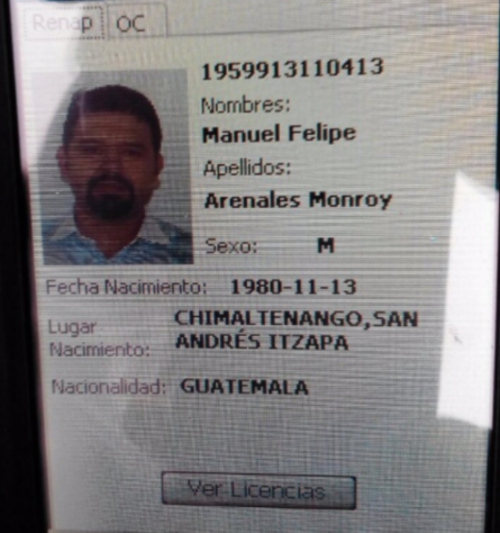La PNC utilizó el sistema Afis (identificación por huella digital) para determinar quién era Arenales Monroy. (Foto: PNC)