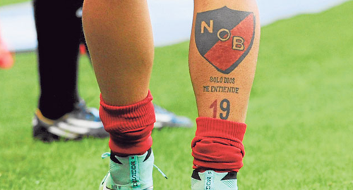 La pierna de Éver Banega, jugador del Inter de Milán y compañero de la selección de Messi. Otro fiel a Newell's Old Boys. (Foto: Olé)