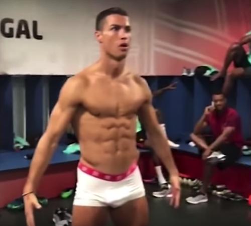 Cristiano Ronaldo salió así en su Mannequin Challenge porque... ¿por qué no? (Imagen: captura de pantalla)