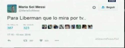 El tweet de María Sol que posteriormente borró por todo el revuelo.