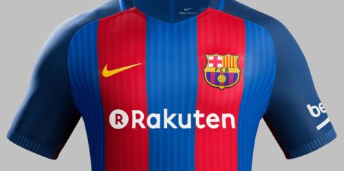 """El uniforme del Barcelona dirá """"Rakuten"""" al frente, aunque será el de la próxima temporada, por lo que todavía no se conoce. (Foto: Barça Blog)"""