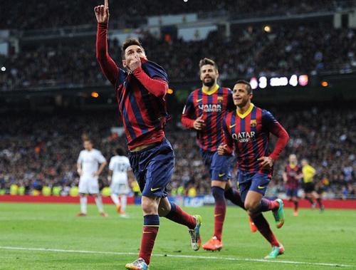 Imagen de la celebración tras el último gol que Messi le marcó al Madrid. (Foto: AS)