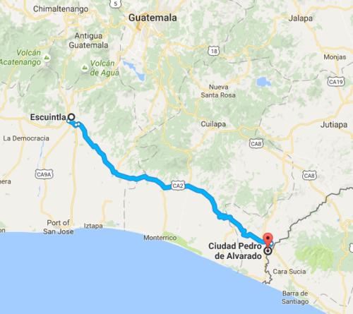 Este es el mapa de la CA-02 Oriente.