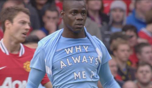 Balotelli y su mítica camiseta. En Liverpool no confiaron en su comportamiento. (Foto: Daily Mail)