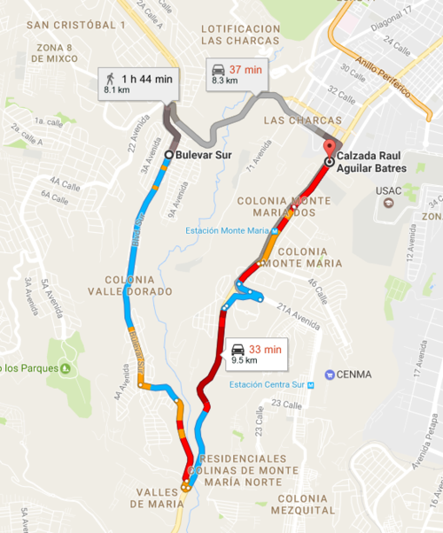 Esta es la ruta alterna si deseas llegar a la Aguilar Batres.