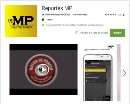 Esta es la aplicación del MP. (Foto: Captura de Pantalla)